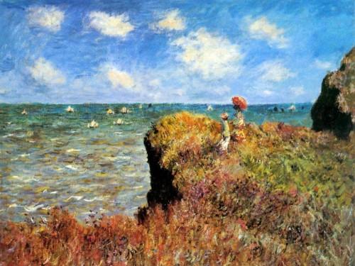 La promenade sur la falaise - Monet